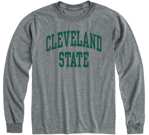 Cleveland State University Classic Long Sleeve T-Shirt (Charcoal Grey)