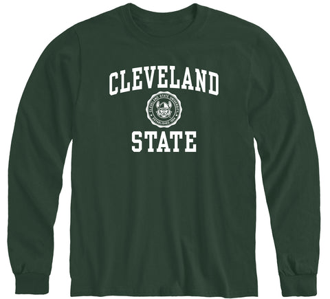 Cleveland State University Heritage Long Sleeve T-Shirt (Hunter Green)