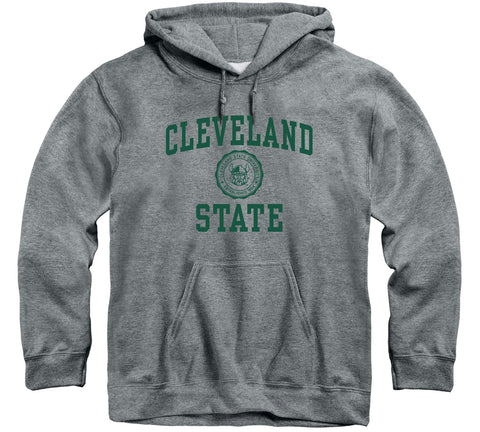 Cleveland State University Heritage Hooded Sweatshirt (Charcoal Grey)