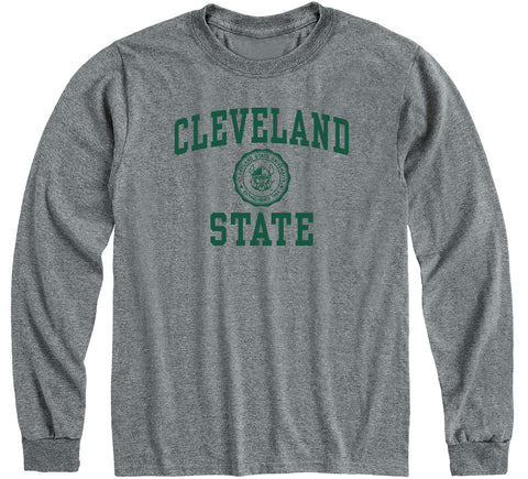 Cleveland State University Heritage Long Sleeve T-Shirt (Charcoal Grey)