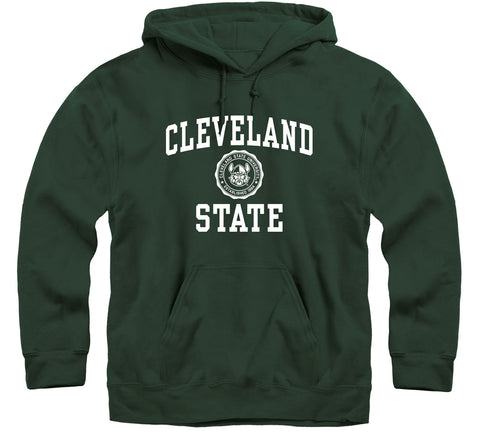 Cleveland State University Heritage Hooded Sweatshirt (Hunter Green)