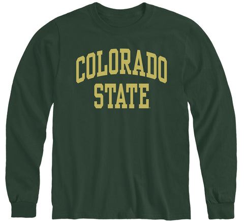 Colorado State University Classic Long Sleeve T-Shirt (Hunter Green)