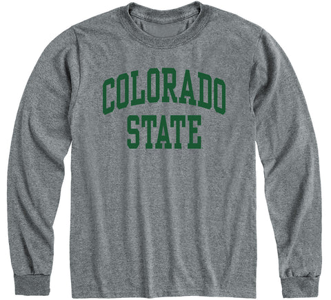 Colorado State University Classic Long Sleeve T-Shirt (Charcoal Grey)