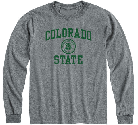 Colorado State University Heritage Long Sleeve T-Shirt (Charcoal Grey)