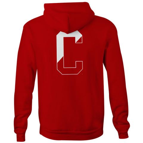Cornell - Letter - Hooded Sweatshirt (Red)