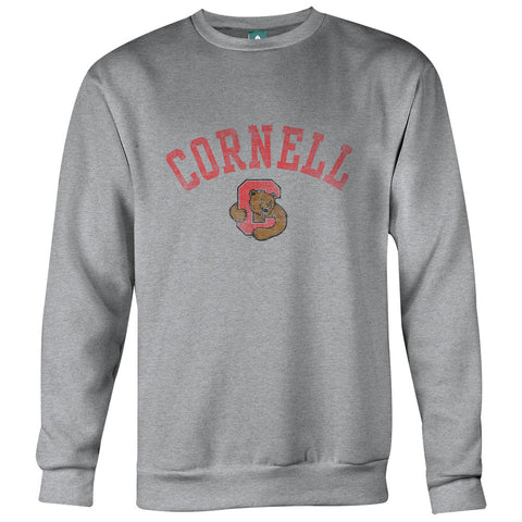 Cornell Team Vintage Sweatshirt (Heather Grey)