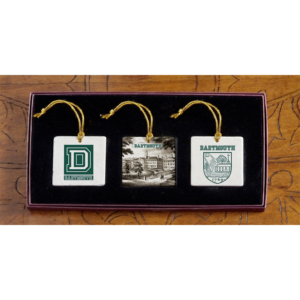 Dartmouth - Christmas 3 Ornament Set