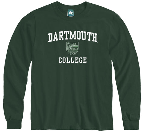 Dartmouth Crest Long Sleeve T-Shirt (Hunter)