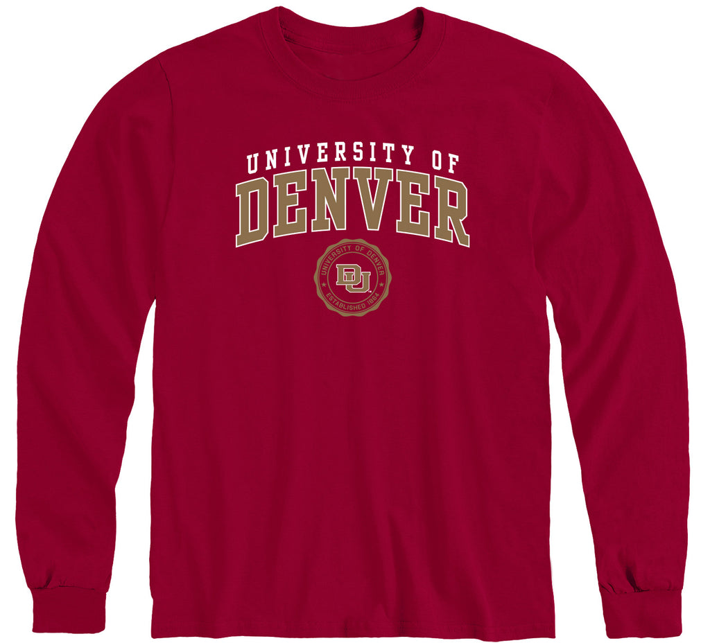 University of Denver Heritage Long Sleeve T-Shirt (Cardinal)
