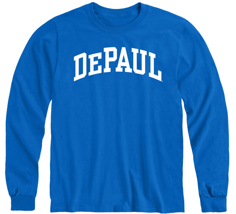 DePaul University Classic Long Sleeve T-Shirt (Royal Blue)