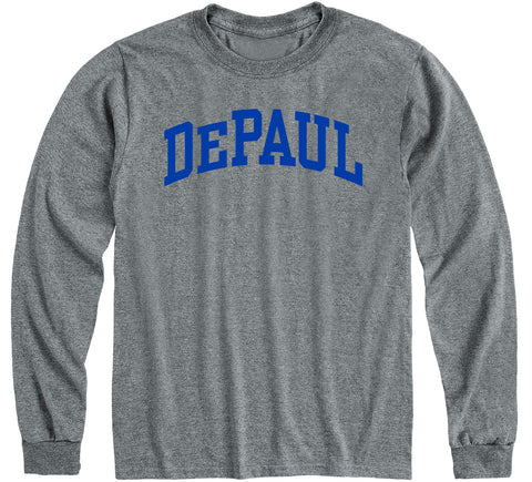 DePaul University Classic Long Sleeve T-Shirt (Charcoal Grey)