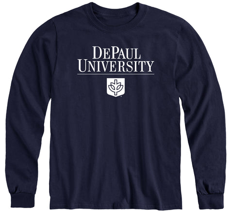 DePaul University Heritage Long Sleeve T-Shirt (Navy)