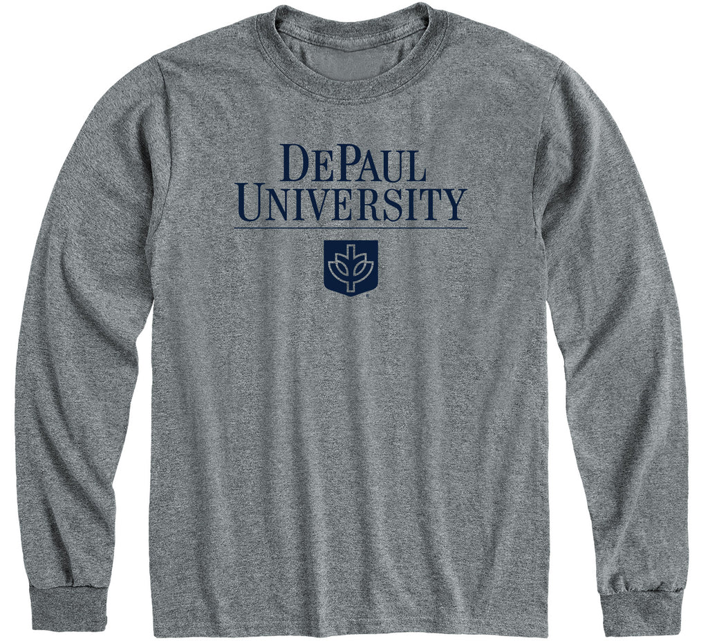 DePaul University Heritage Long Sleeve T-Shirt (Charcoal Grey)