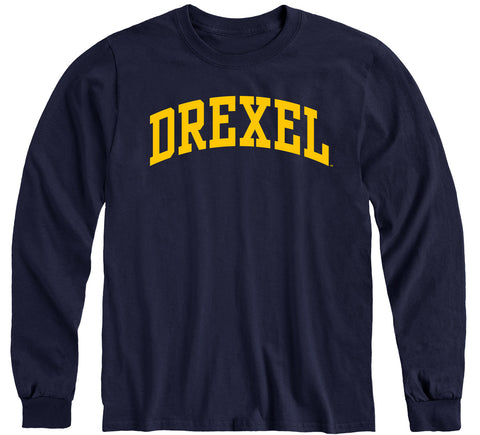 Drexel University Classic Long Sleeve T-Shirt (Navy)
