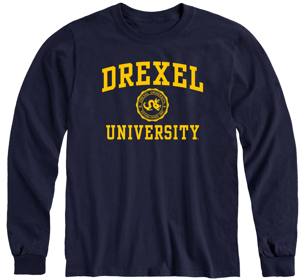 Drexel University Heritage Long Sleeve T-Shirt (Navy)