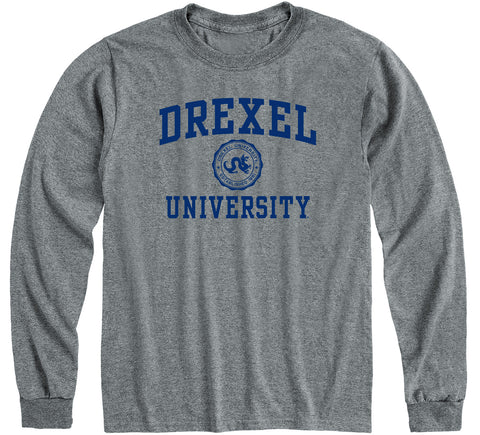 Drexel University Heritage Long Sleeve T-Shirt (Charcoal Grey)