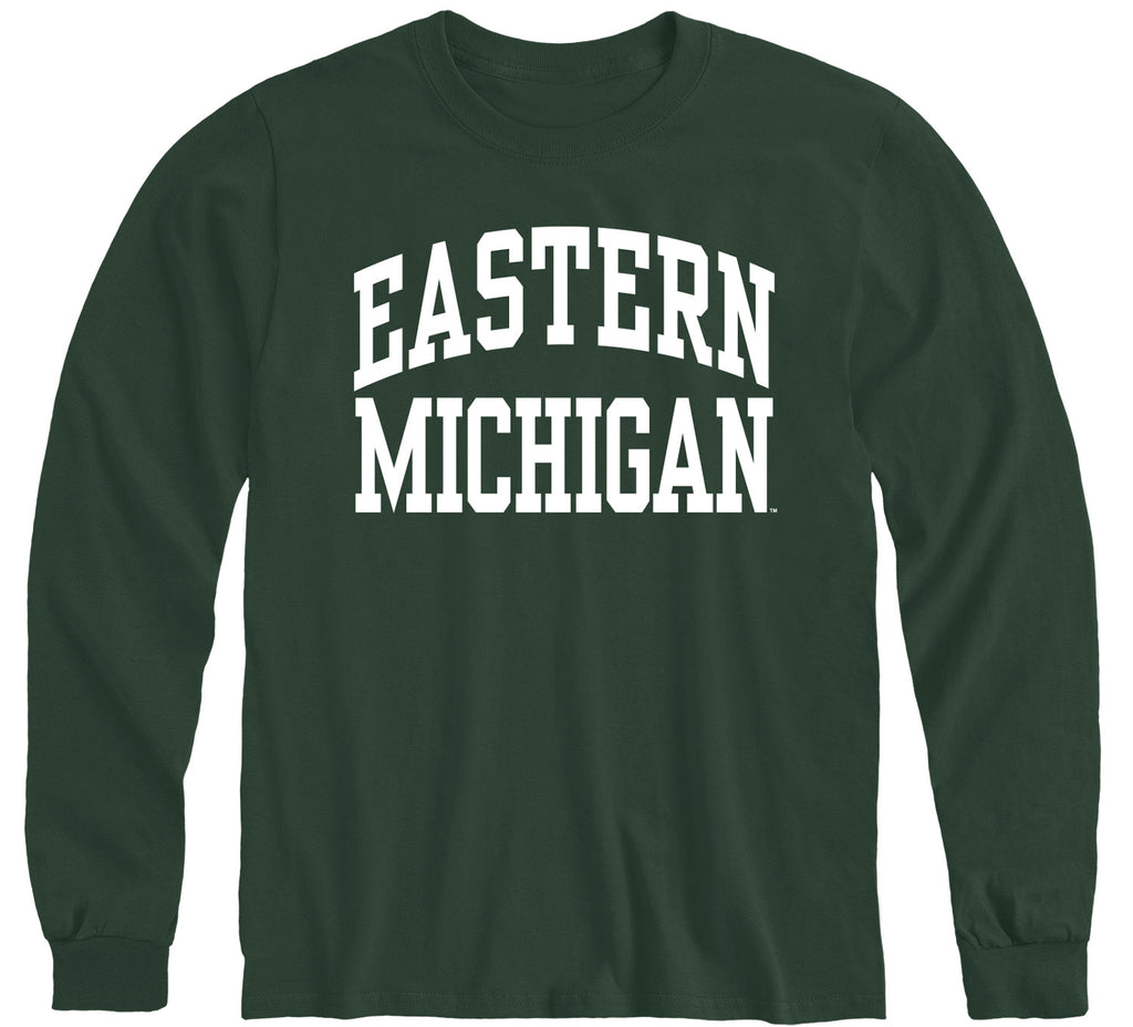 Eastern Michigan University Classic Long Sleeve T-Shirt (Hunter Green)