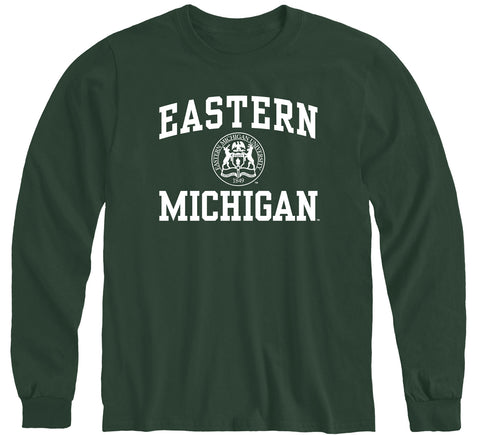 Eastern Michigan University Heritage Long Sleeve T-Shirt (Hunter Green)
