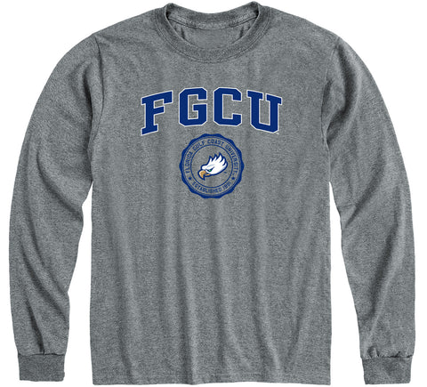 Florida Gulf Coast University Heritage Long Sleeve T-Shirt (Charcoal Grey)