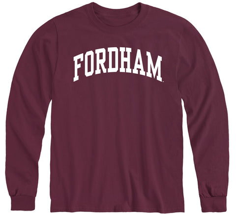 Fordham University Classic Long Sleeve T-Shirt (Maroon)