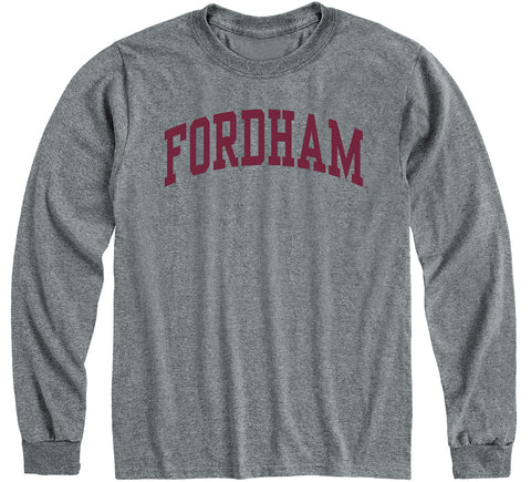 Fordham University Classic Long Sleeve T-Shirt (Charcoal Grey)