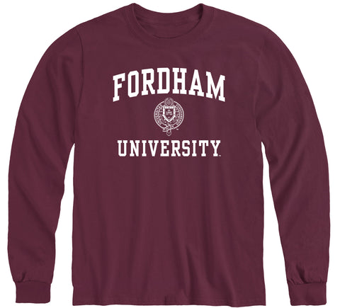 Fordham University Heritage Long Sleeve T-Shirt (Maroon)