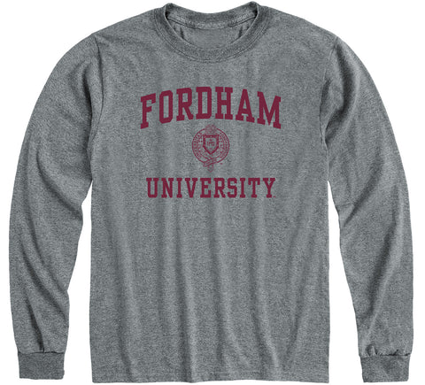 Fordham University Heritage Long Sleeve T-Shirt (Charcoal Grey)