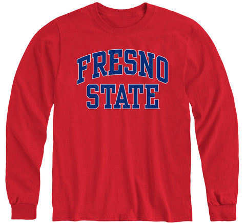California State University Fresno Classic Long Sleeve T-Shirt (Red)