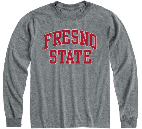 California State University Fresno Classic Long Sleeve T-Shirt (Charcoal Grey)
