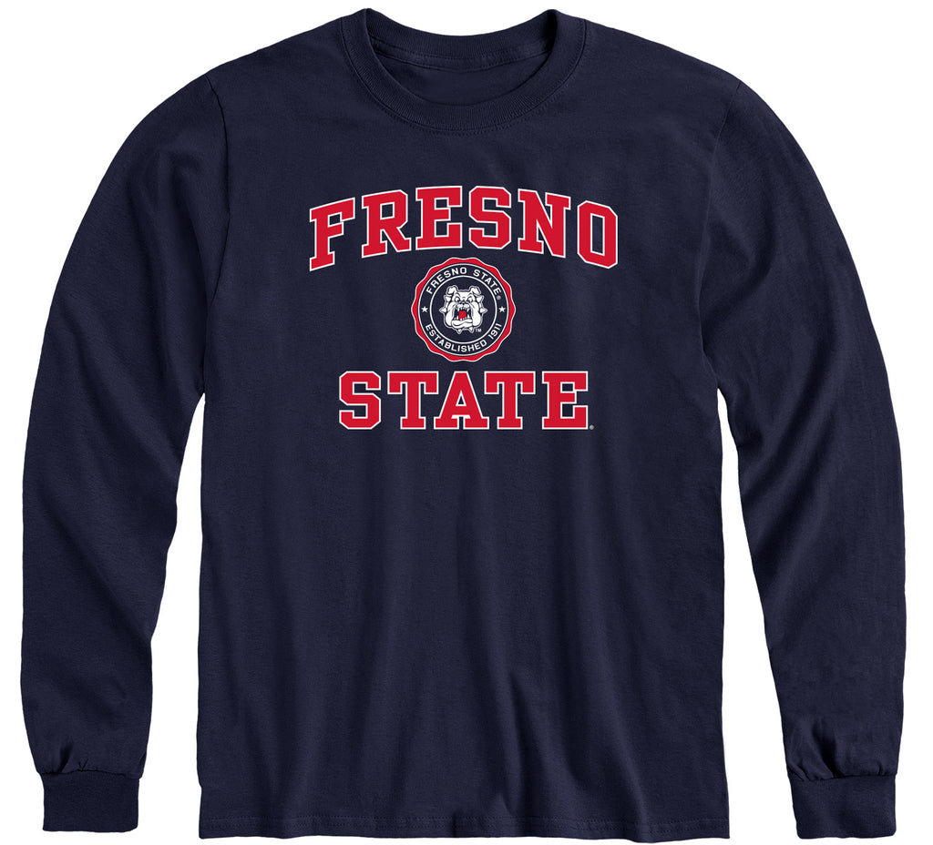 California State University Fresno Heritage Long Sleeve T-Shirt (Navy)