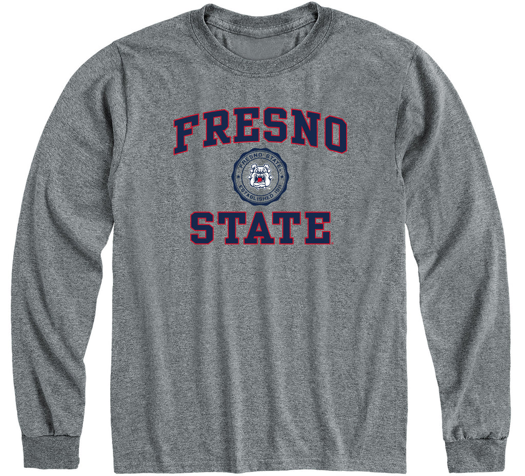 California State University Fresno Heritage Long Sleeve T-Shirt (Charcoal Grey)