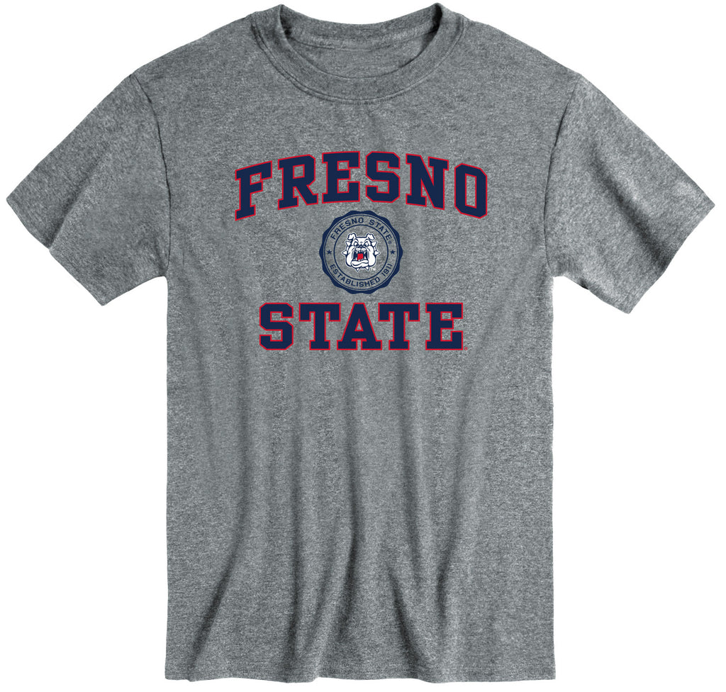 California State University Fresno Heritage T-Shirt (Charcoal Grey)