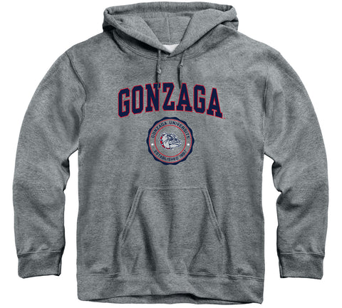 Gonzaga University Heritage Hooded Sweatshirt (Charcoal Grey)