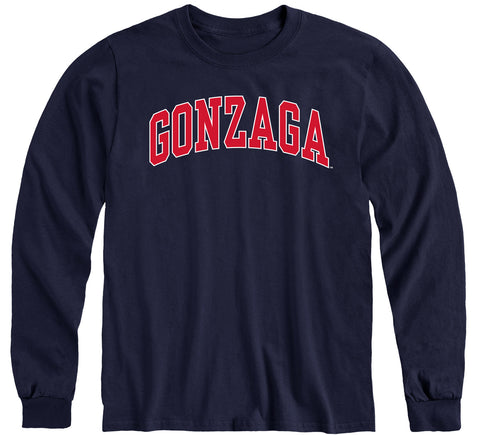 Gonzaga University Classic Long Sleeve T-Shirt (Navy)