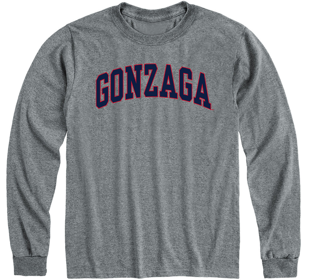 Gonzaga University Classic Long Sleeve T-Shirt (Charcoal Grey)