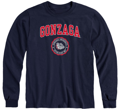 Gonzaga University Heritage Long Sleeve T-Shirt (Navy)