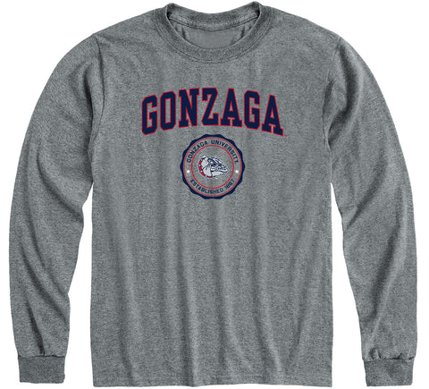 Gonzaga University Heritage Long Sleeve T-Shirt (Charcoal Grey)