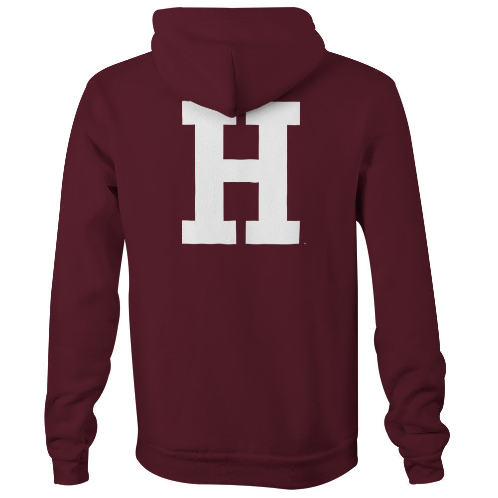 Harvard University Letter Hooded Sweatshirt (Crimson)