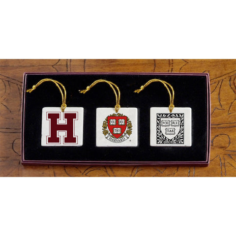 Harvard - Christmas 3 Ornament Set