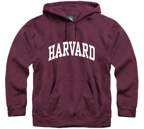 Harvard University Classic Hooded Sweatshirt (Crimson)