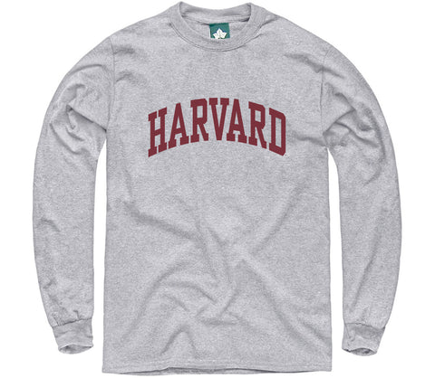 Harvard L/S T-Shirt Classic (Heather Grey)