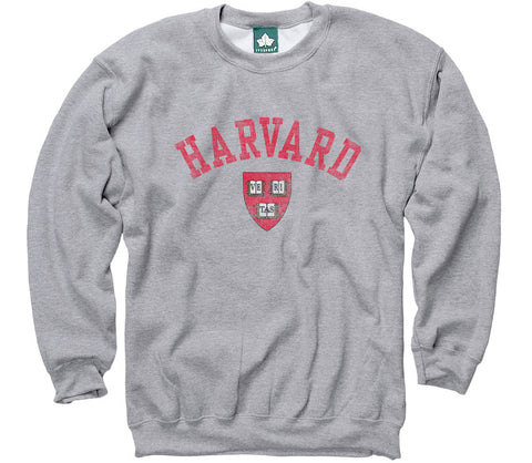 Harvard Team Vintage Sweatshirt (Heather Grey)