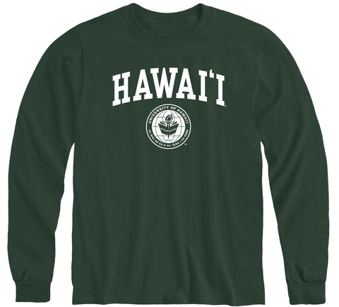 University of Hawaii Heritage Long Sleeve T-Shirt (Hunter Green)