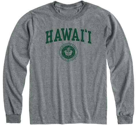 University of Hawaii Heritage Long Sleeve T-Shirt (Charcoal Grey)