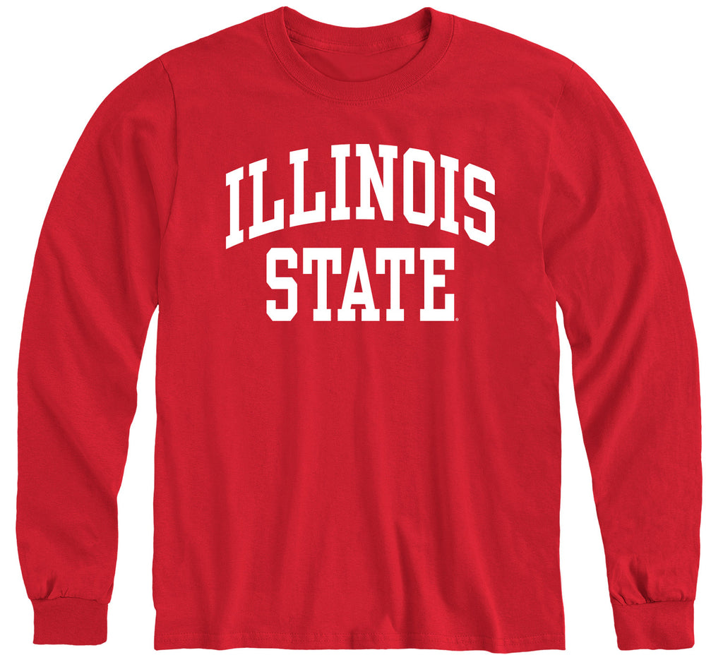 Illinois State University Classic Long Sleeve T-Shirt (Red)