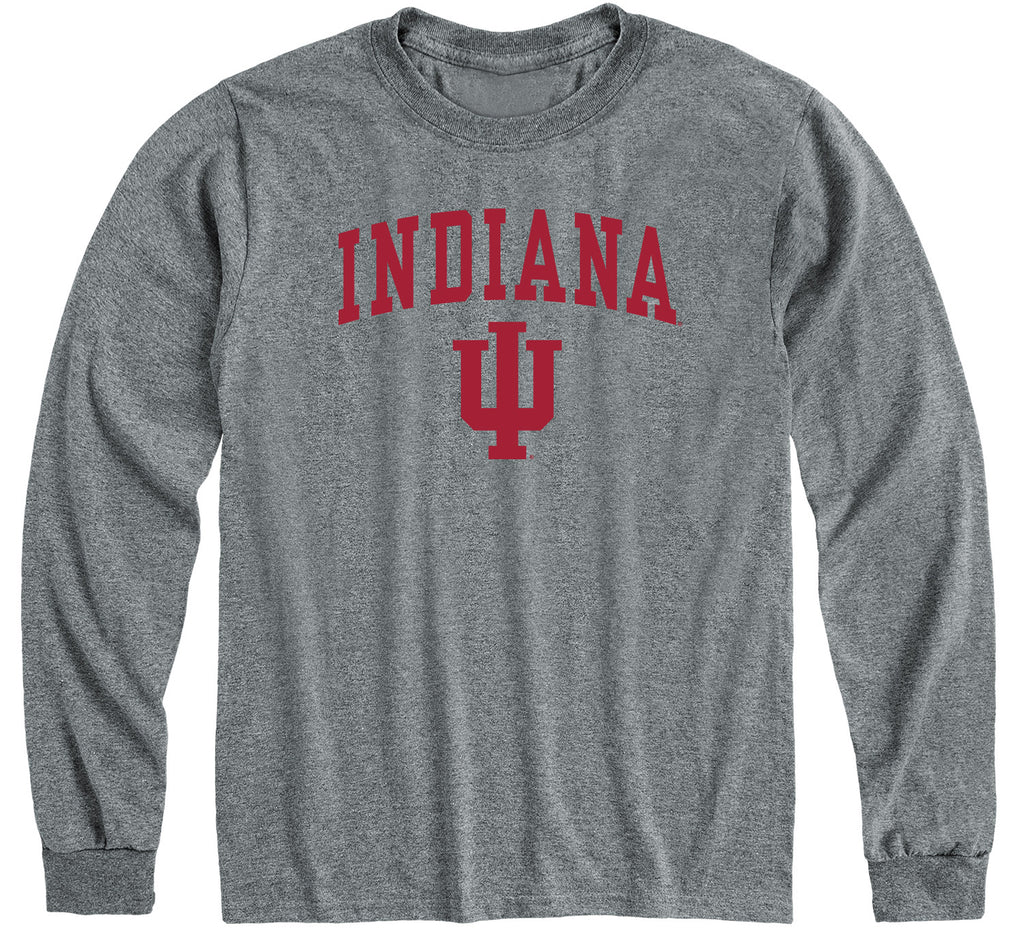 Indiana University Heritage Long Sleeve T-Shirt (Charcoal Grey)