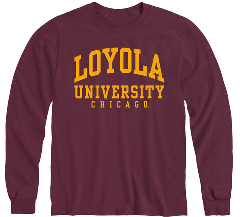 Loyola University Chicago Classic Long Sleeve T-Shirt (Maroon)