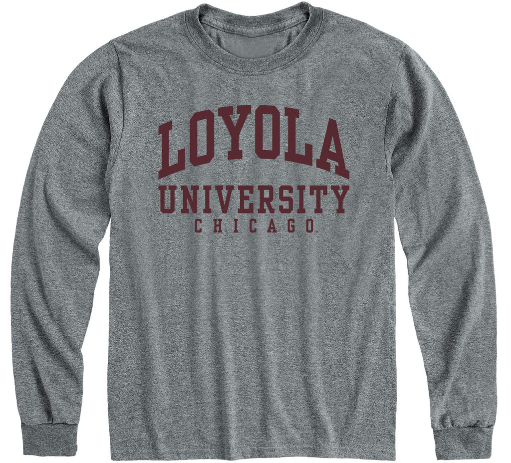 Loyola University Chicago Classic Long Sleeve T-Shirt (Charcoal Grey)