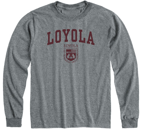 Loyola University Chicago Heritage Long Sleeve T-Shirt (Charcoal Grey)