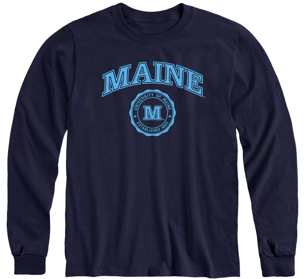 University of Maine Heritage Long Sleeve T-Shirt (Navy)